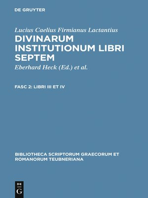cover image of Libri III et IV