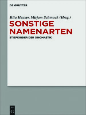 cover image of Sonstige Namenarten