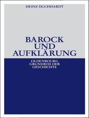 cover image of Barock und Aufklärung