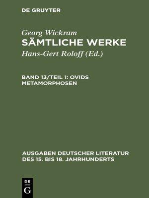 cover image of Ovids Metamorphosen