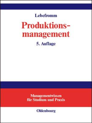 cover image of Produktionsmanagement