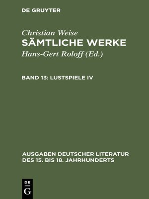 cover image of Lustspiele IV