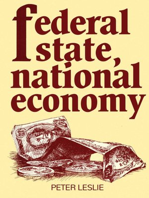 cover image of Federal State, National Economy