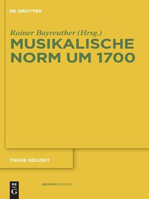 cover image of Musikalische Norm um 1700