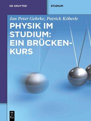 cover image of Physik im Studium