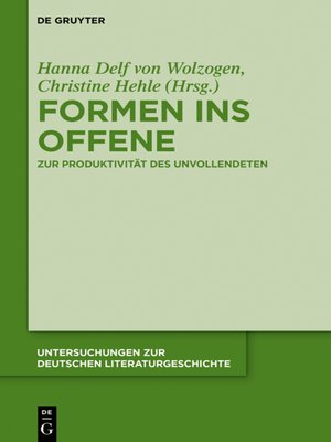 cover image of Formen ins Offene