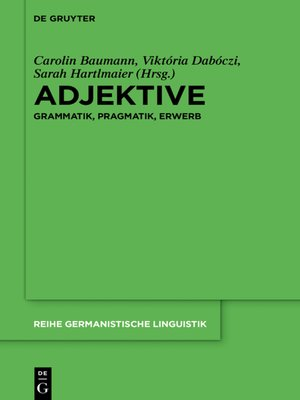 cover image of Adjektive