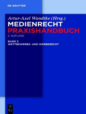 cover image of Wettbewerbs- und Werberecht