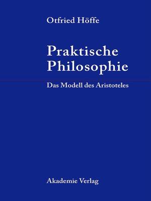 cover image of Praktische Philosophie