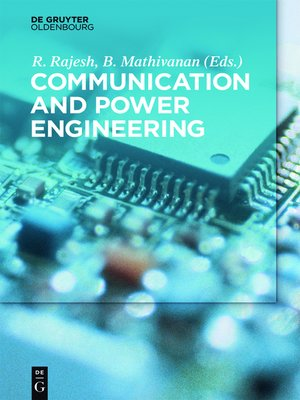 cover image of Communication and Power Engineering