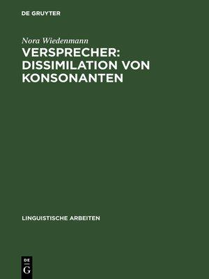 cover image of Versprecher