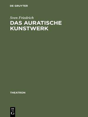 cover image of Das auratische Kunstwerk