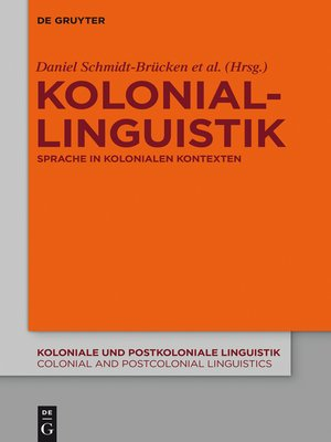 cover image of Koloniallinguistik