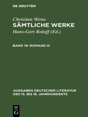 cover image of Romane III