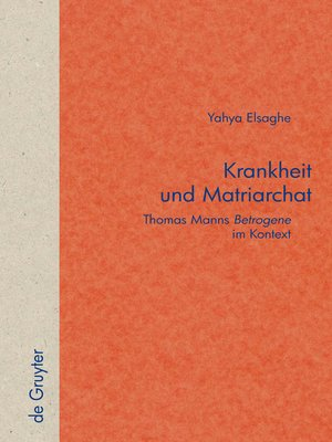 cover image of Krankheit und Matriarchat