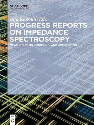 cover image of Progress Reports on Impedance Spectroscopy