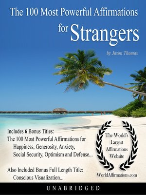 cover image of The 100 Most Powerful Affirmations for Strangers