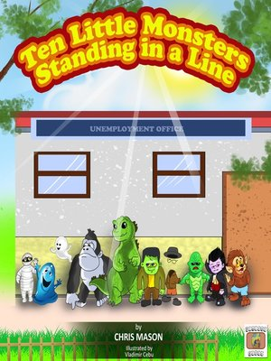 cover image of Ten Little Monsters Standing in a Line