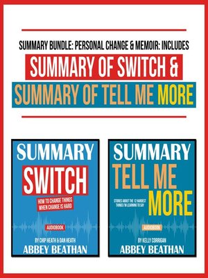 cover image of Summary Bundle: Personal Change & Memoir