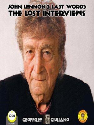cover image of John Lennon's Last Words