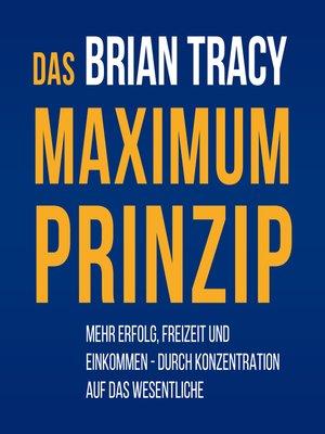cover image of Das Maximum-Prinzip