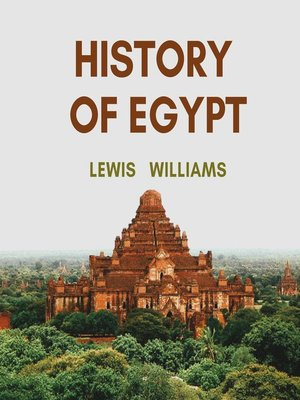 cover image of The History of Egypt
