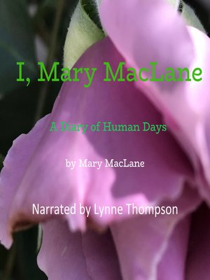 cover image of I, Mary MacLane