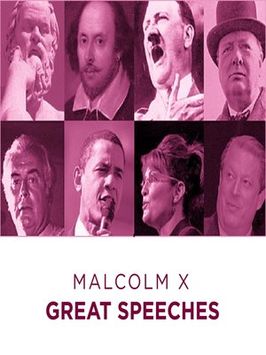 cover image of Great Speeches: Malcolm X