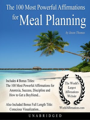 cover image of The 100 Most Powerful Affirmations for Meal Planning