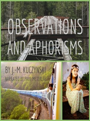 cover image of Observations and Aphorisms