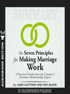 cover image of Summary of The Seven Principles for Making Marriage Work: A Practical Guide from the Country's Foremost Relationship Expert by John Gottman