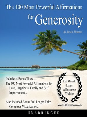 cover image of The 100 Most Powerful Affirmations for Generosity