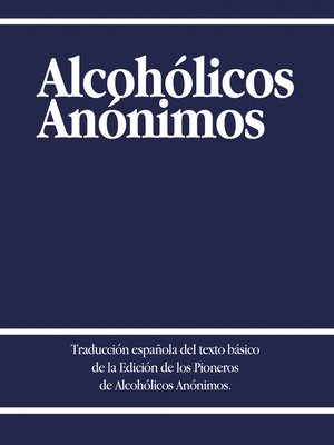 cover image of Alcoholicos Anonimos
