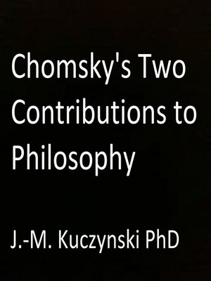 cover image of Chomsky's Two Contributions to Philosophy