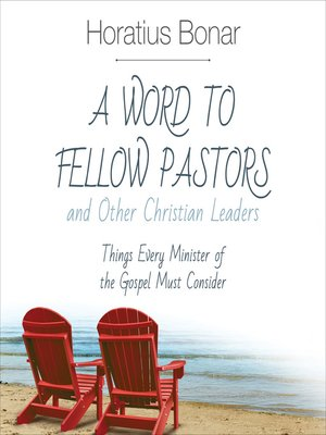 cover image of A Word to Fellow Pastors and Other Christian Leaders