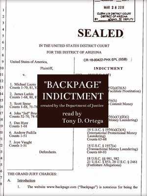 cover image of Backpage Indictment