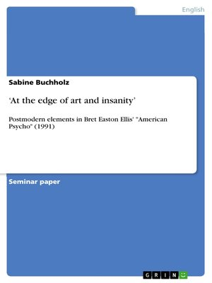 cover image of 'At the edge of art and insanity'