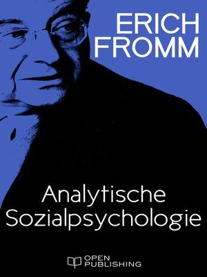 cover image of Analytische Sozialpsychologie