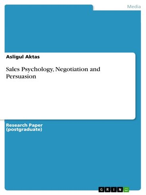 cover image of Sales Psychology, Negotiation and Persuasion