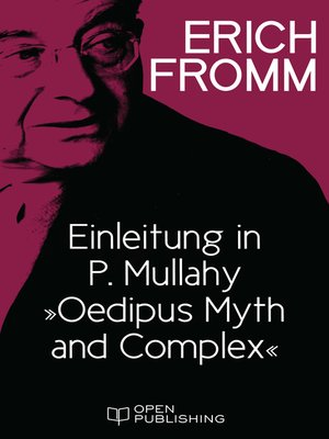 """cover image of Einleitung in P. Mullahy """"Oedipus. Myth and Complex"""""""