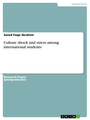 cover image of Culture shock and stress among international students