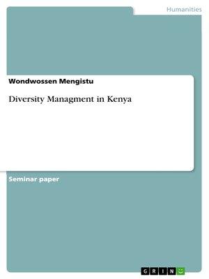 cover image of Diversity Managment in Kenya