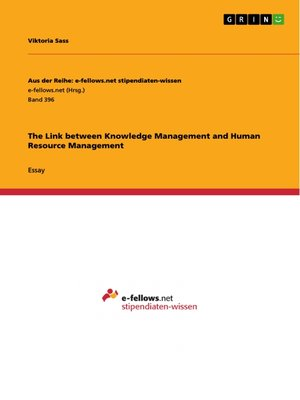 cover image of The Link between Knowledge Management and Human Resource Management