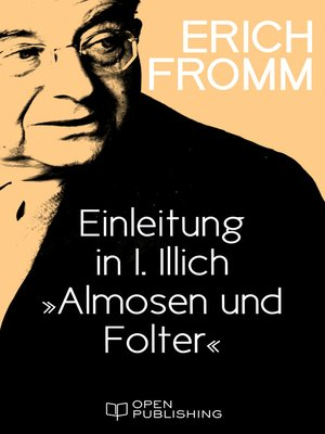 """cover image of Einleitung in I. Illich """"Almosen und Folter"""""""