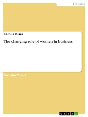 cover image of The changing role of women in business