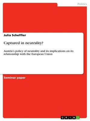 cover image of Captured in neutrality?
