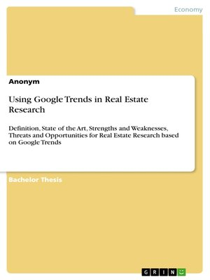 cover image of Using Google Trends in Real Estate Research