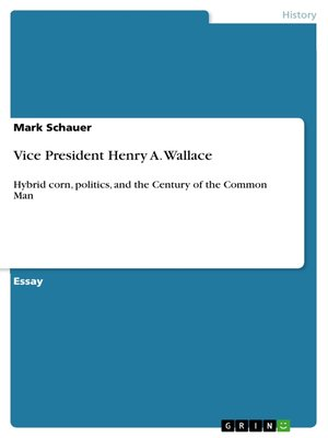 cover image of Vice President Henry A. Wallace