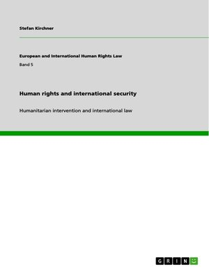 cover image of Human rights and international security