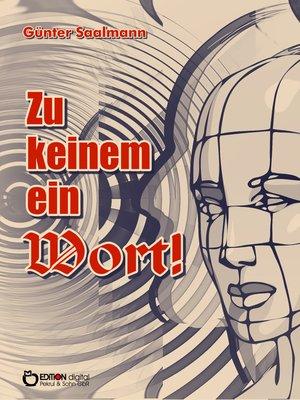 cover image of Zu keinem ein Wort!